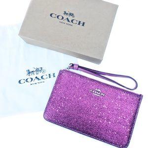 NEW Coach glitter wristlet